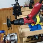 「電動ライン巻取り機」の自作方法① – 電動ドリル固定編 –